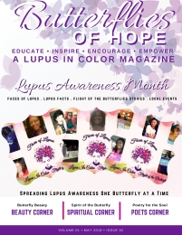 BUTTERFRLIES OF HOPE LUPUS IN COLOR MAGAZINE MAY 2018