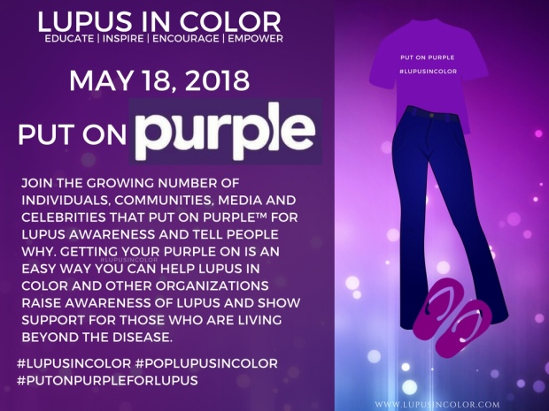 put on purple day lupus in color