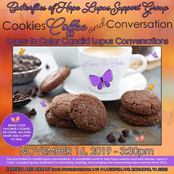 Cookies, Coffee and Conversation Lupus support Group