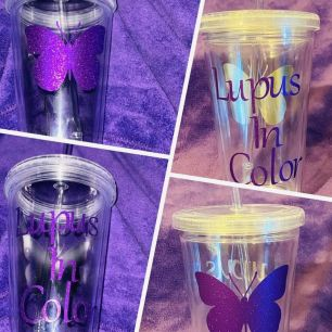 LUPUS IN COLOR TUMBLER $20+$3 S/H